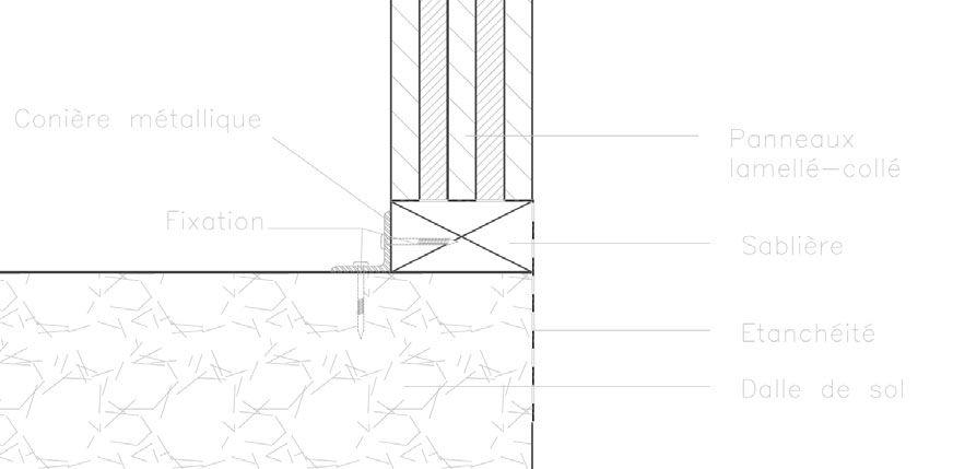 Processus constructif Pose des sablières et étanchéité - 3